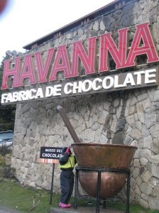 ... fábrica de chocolates da Havanna